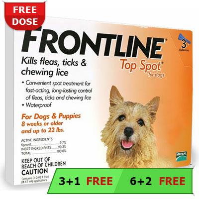 Frontline Top Spot For Dogs Buy Frontline Top Spot Flea
